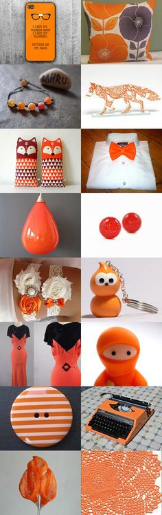 Outstanding Orange!  by TheDaintyBoutique on Etsy--Pinned with TreasuryPin.com