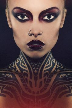 amazing makeup and tattoo