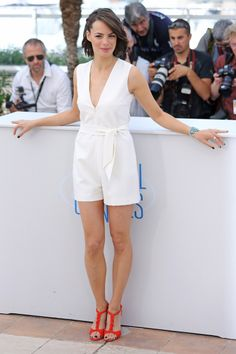 """Bérénice Bejó during the presentación of the film """"The Search"""" in Cannes."""