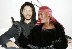 Grace Jones with her son Paulo Goude