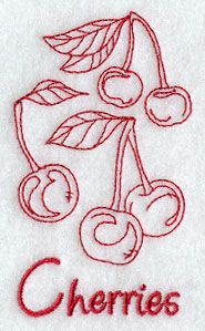 Cherries (Redwork)