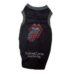 Camiseta para Cachorro Dogstone London Dolce & Cane - MeuAmigoPet.com.br #petshop #cachorro #cão #meuamigopet