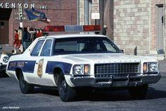vintage Delaware State Police car
