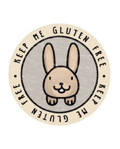 Woodland Rabbit – Keep Me Gluten Free Stickers – x18