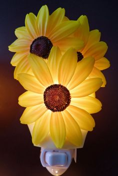 sunflower kitchen decor | sunflower night light