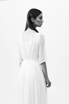 Minimal + Classic: Zofia Chylak - Silk satin and georgette dress