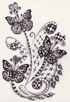 Zentangle and Butterflies