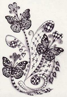 Zentangle and Butterflies
