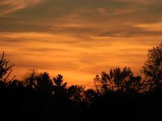 That Autumn Sky. Romeo, Michigan. 2008