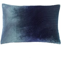 "Kevin O'Brien Studio Ombre ""Waves"" Pillow ($255) ❤ liked on Polyvore"