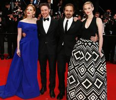 Jessica Chastain, James McAvoy, director Ned Benson and Jess Weixler attend 'The Disappearence Of Eleanor Rigby' Premiere
