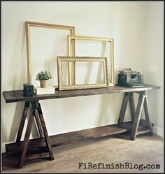The Homestead Survival | Build Your Self A Sawhorse Console Table | http://thehomesteadsurvival.com