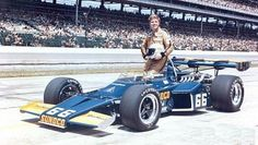 Mark Donohue in his McLaren Indy car. I saw this car in Gasoline Alley and it was beautiful!