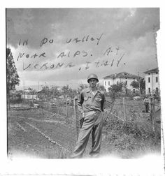 WWII - Sgt Cole in Verona - 1945