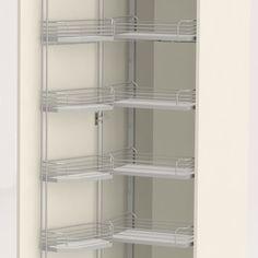 Sigdal kjøkken - Høyskap m trådhyller Bookcase, New Homes, Shelves, House, Kitchen Stuff, Home Decor, Shelving, Decoration Home, Home