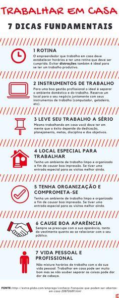 """Ainda se tem certo preconceito aqui no Brasil com esse termo """"Trabalhar em casa"""". Hoje existem vários tipos de negócios podem ser empreendidos no seu próprio lar. #trabalharemcasa #dicas #homeoffice #profissional"""