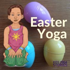 Along with your fun Easter activities, why not add movement to your celebrations with these twelve Easter yoga poses for kids + Easter yoga game!