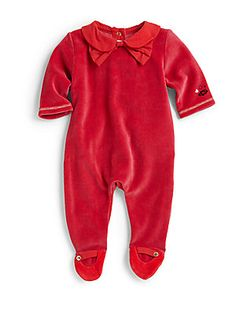 Little Marc Jacobs Infant's Velour Footie