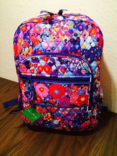 Vera Bradley IMPRESSIONISTA Campus Backpack Bag NWT #VeraBradley #BackpackStyle