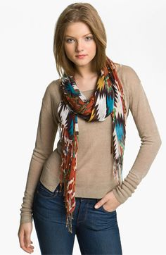 Natasha Couture 'Southwest' Scarf available at #Nordstrom