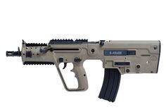 IWI X95 Assualt Rifle - bullpup design and customizable design allow it to utilize 3 calibers: 9x19mm, 5.56x45mm or 5.45x39mm for max versatility.