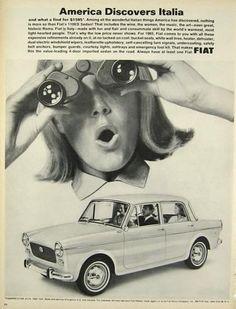 1965 Fiat 1100D Sedan Ad ~ America Discovers Italia