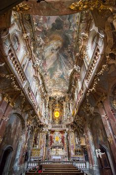 Asam Church in Munich Germany by Wandering Wheatleys Sacred Architecture, Church Architecture, Beautiful Architecture, Beautiful Buildings, Cities In Germany, Germany Castles, Visit Austria, Austria Travel, Cathedral Church