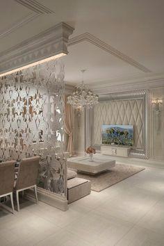 Home Decor: Creative Ideas for Dividing Large And Small Spaces Home Room Design, Home Interior Design, Living Room Designs, Living Room Decor, Bedroom Decor, Wall Decor, Living Rooms, Bench Decor, Deer Decor