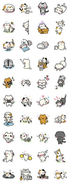 Adorable Kawaii cat illustrations 画像 and like OMG! get some yourself some pawtastic adorable cat apparel! Chat Kawaii, Kawaii Cat, Doodles Bonitos, Cute Doodles, Kawaii Doodles, Kawaii Drawings, Cute Illustration, Crazy Cats, Animal Drawings