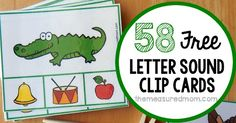 Help your child learn to hear letter sounds with these free clip cards! Get two cards for every letter, PLUS cards for words that start with sh, ch, and th. Preschool Journals, Preschool Literacy, Kindergarten Activities, Early Literacy, Abc Phonics, Phonics Reading, Jolly Phonics, Letter Sound Activities, Abc Centers
