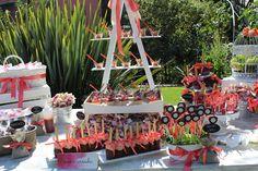 Candy Bar estilo Shabby Chic para bautizo niña y cumpleaños
