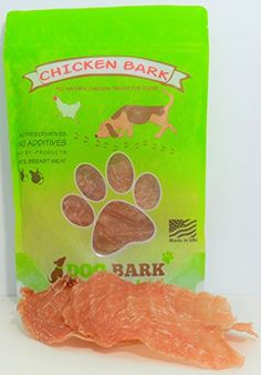 Dog Jerky Treats - Chicken Bark  Voted Best Chicken Treat Available To Dogs Portion Of All Proceeds Donated To Dogs In Need 100 Sourced and Made USA As Natural As It Gets  1 Ingredient * Click image for more details. (This is an Amazon affiliate link)
