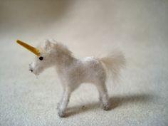 Tiny Unicorn for the Dollhouse. $6.75, via Etsy.