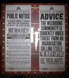 Ministry of Magic Death Eaters Posters (2)