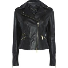 LEATHER BIKER JACKET ($385) ❤ liked on Polyvore featuring outerwear, jackets, genuine leather biker jacket, motorcycle jacket, military style leather jacket, leather motorcycle jacket and leather moto jacket
