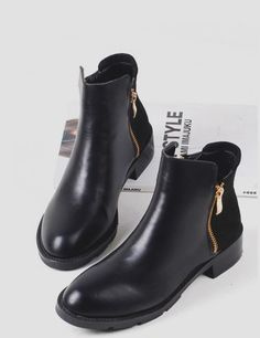 FLAT LEATHER ANKLE BOOTS | Zara |   For the Feet   | Pinterest ...