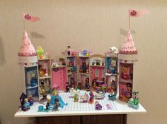 """My """"Happily Ever After"""" castle with the Little Kingdom dolls."""