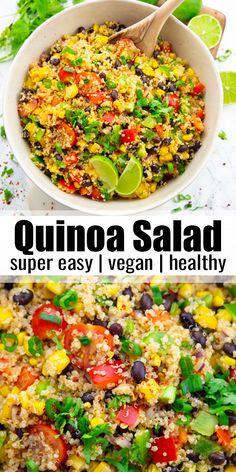 Quick Vegan Meals, Vegan Lunch Recipes, Delicious Vegan Recipes, Vegan Dinners, Salad Recipes, Healthy Recipes, Vegetarian Menu, Tofu Recipes, Vegan Food