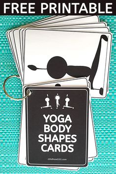 Yoga Poses For Kids: Printable Body Awareness Cards. Great for Brain Breaks.