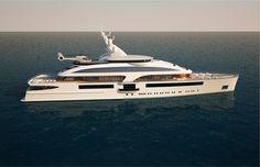 90M ~ MARCO CASALI ~Design Innovation | Benetti Yachts Benetti Yachts, Luxury Yachts, Float Your Boat, Yacht Boat, Yacht Design, Super Yachts, Sail Away, Catamaran, Water Crafts