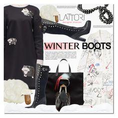 """Lattori 16"" by barbarela11 ❤ liked on Polyvore featuring Lattori, women's clothing, women, female, woman, misses, juniors, winterboots and lattori"