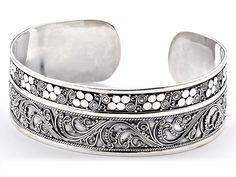 Collection: ARTISAN SILVERStyle #: 54377BA.SLLong Description: Cuff Bangle All HandmadeMetal: Silver