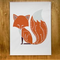 Foxy Fox  8.5x11 print by DowdyStudio on Etsy