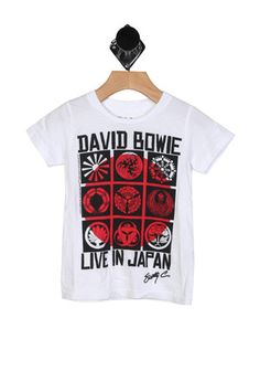 The David Bowie Tee in White (Toddler - Big Boy) by Chaser Kids from MFredric.com