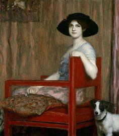 Bild: Franz von Stuck - Mary in rotem Sessel