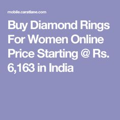 Buy Diamond Rings For Women Online Price Starting @ Rs. 6,163 in India
