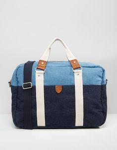 Shop River Island Holdall Bag In Two-Tone Denim at ASOS. River Island, Gym Bag, Fashion Online, Asos, Denim, Travel, Shopping, Trips, Duffle Bags