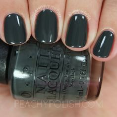 """Liv"" In The Gray (Special Edition Kerry Washington Shade) is a deep slate gray creme with slight green undertones."