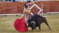 El torero Sebastian Castella, en su primer toro en Palencia