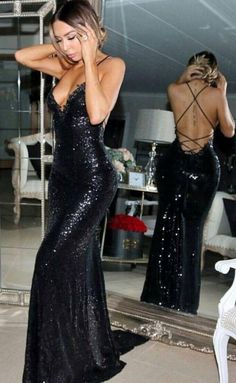 Black Mermaid Sleeveless Sweep-Train Sequined Sexy Prom Dress, Shop plus-sized prom dresses for curvy figures and plus-size party dresses. Ball gowns for prom in plus sizes and short plus-sized prom dresses for Black Sequin Prom Dress, Black Prom Dresses, Mermaid Prom Dresses, Cheap Prom Dresses, Prom Party Dresses, Ball Dresses, Sexy Dresses, Fashion Dresses, Black Sequins
